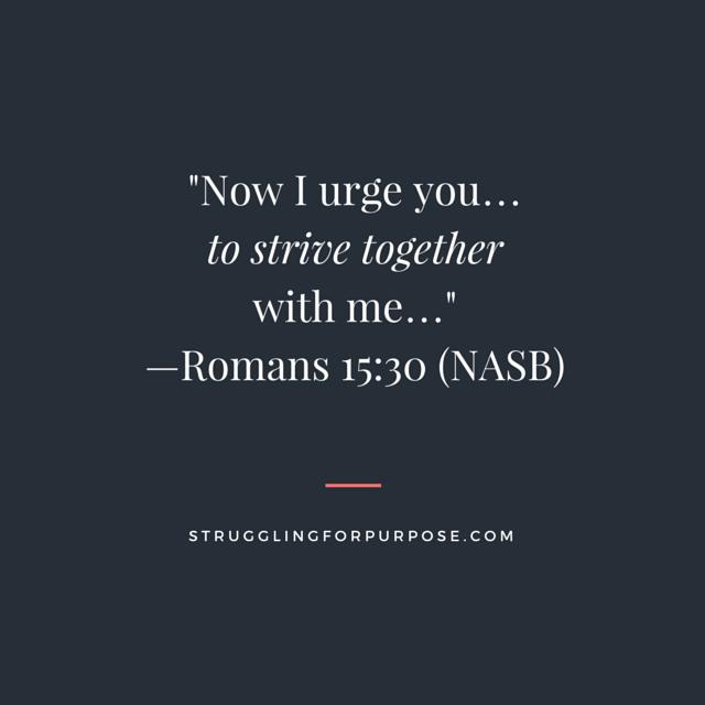 Struggling for Purpose Bible Verse - Square - Struggling for Purpose